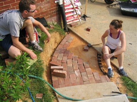 workshop carpentry brick walkway