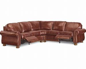 Benjamin motion sectional two piece leather for Small sectional sofa thomasville
