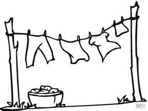 dessin corde a linge coloriage linge qui s 232 che sur la corde coloriages 224 imprimer gratuits