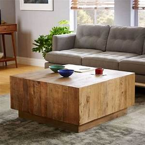 West elm inspired diy coffee table diycandycom for West elm plank coffee table