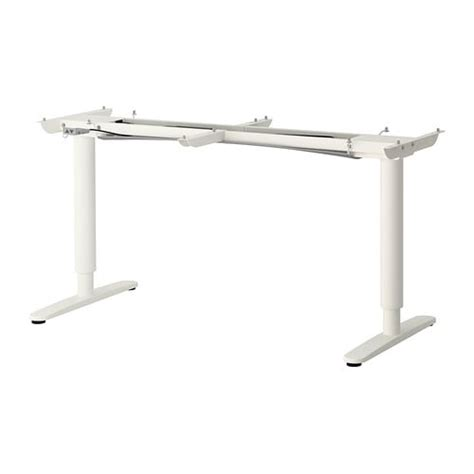 bekant sitstand underframe  table top white ikea