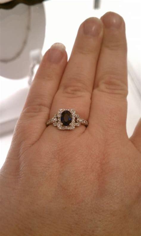 my vintage sapphire engagement ring weddingbee