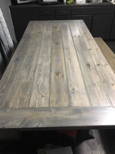 ana white rekourt dining table  benches diy projects