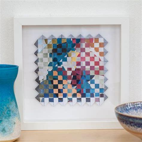 framed original art paper weaving art abstract artwork