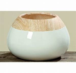 Objet Deco Blanc : vase tia dolomite blanc h16 vase cache pot fleur objet d co maison lecomptoirdesauthentics ~ Teatrodelosmanantiales.com Idées de Décoration