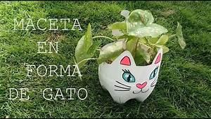 Maceta de gato hecha con botella de plástico DIY YouTube