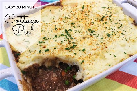 cottage pie recipes easy easy 30 minute cottage pie recipe s lounge