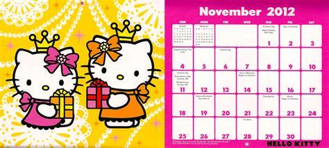 Hello Kitty January Calendar 2011