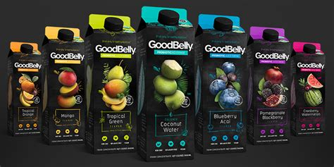 square glass jar goodbelly the dieline packaging branding design
