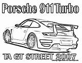 Porsche Coloring 911 Fast Furious Cars Printable Nascar Drawing Race Gt Gt3 Turbo Racing Rs Ta 2007 Colouring Drawings Gordon sketch template