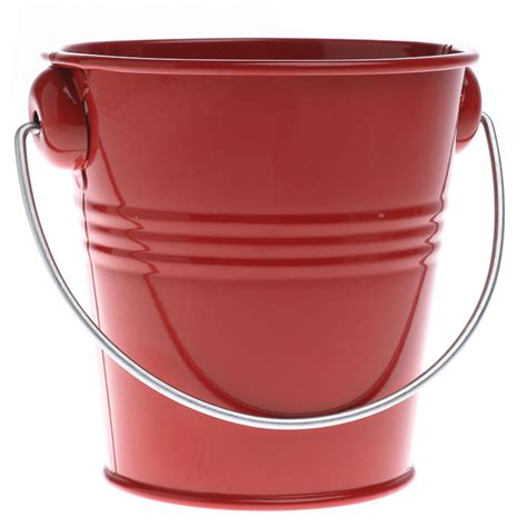 red metal pail baskets buckets boxes home decor