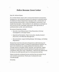 Cover Page Format For Resume Free 9 Sample Police Resume Templates In Ms Word Pdf