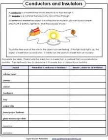 Conductor Insulator Worksheet