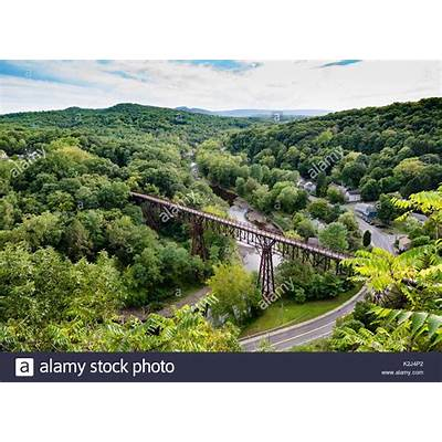 View of the Rosendale NY Train Trestle from