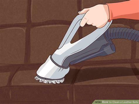 how to clean leather settee 4 ways to clean a leather sofa wikihow