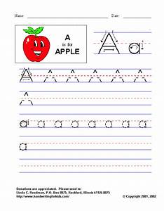 letter a handwriting worksheets kindergarten | Preschool ...