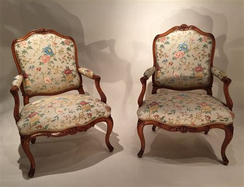 French Fine Pair Armchairs Stamped N.heurtaut , Louis Xv