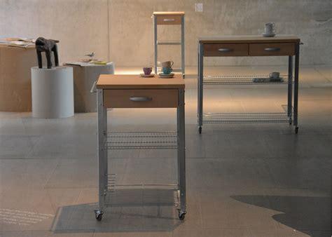 meuble cuisine acier meuble de cuisine sur roulettes fonctionnel et design chez