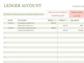 Ledger Template Excel Microsoft Excel General Ledger Template