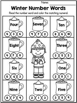 winter math worksheets kindergarten by united teaching tpt