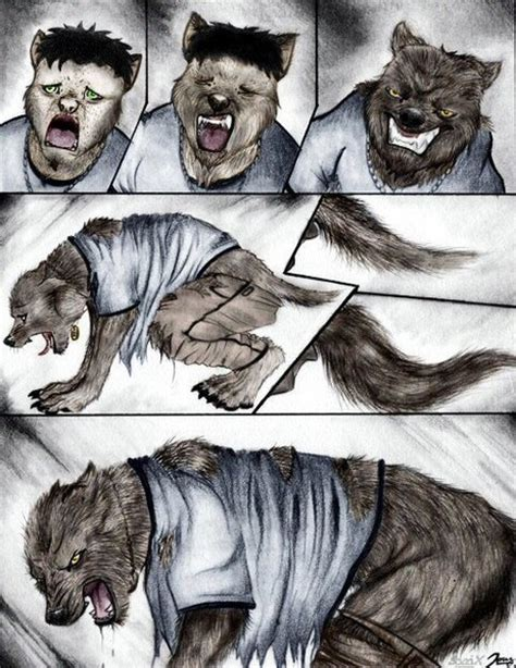 colored cartoon werewolf transformation page   jordan