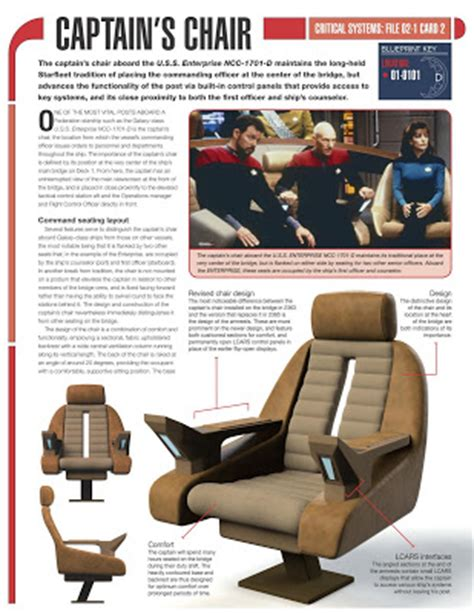 trek captains chair plans the trek collective build the enterprise issue by issue