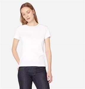 Women's Sea Island Cotton T-Shirt in White | Sunspel