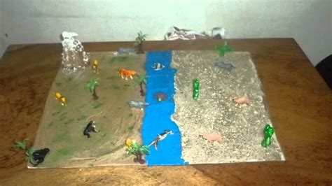 maqueta ecosistema terrestre youtube