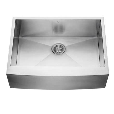 apron front single bowl kitchen sink shop vigo 30 in x 22 25 in stainless steel single basin