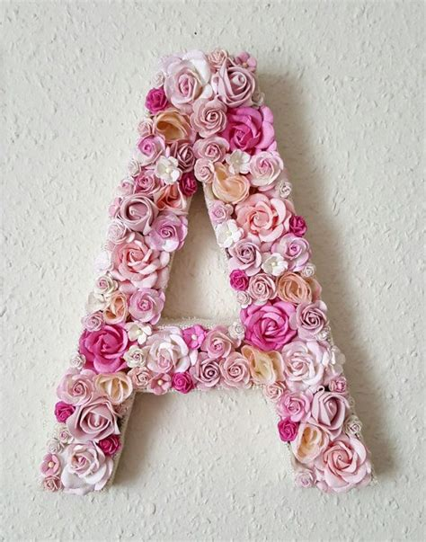 pink flower letter pink nursery decor wedding decor etsy floral letters flower letters