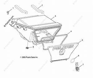 Polaris Atv 2006 Oem Parts Diagram For Storage Box  Rear