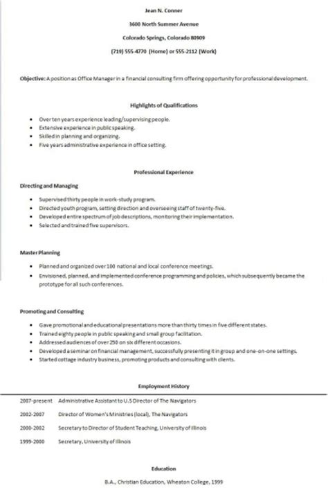 Human Biology Degree Resume by Biology Human Functional Resume Outline
