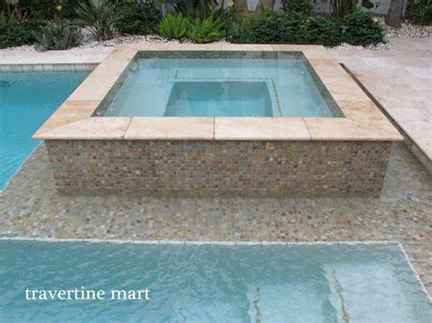 ivory travertine pool deck pavers tiles