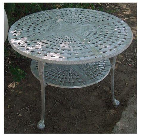 aluminum basket weave bistro table