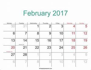 Aussaatkalender 2017 Pdf : february 2017 calendar pdf printable calendar templates ~ Whattoseeinmadrid.com Haus und Dekorationen