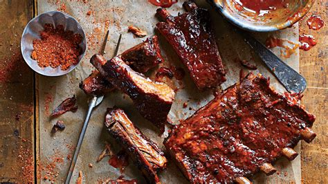 delicious recipes  barbecue ribs southern living