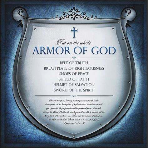 home accents decor house blessings plaque mdf armor of god belt of shoes of peace
