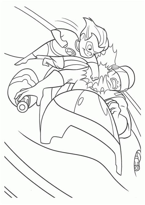 dash punch bad guy   face   incredibles coloring page  print