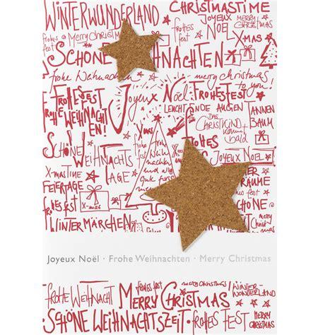 raeder  shop weihnachts korkstern karte frohe