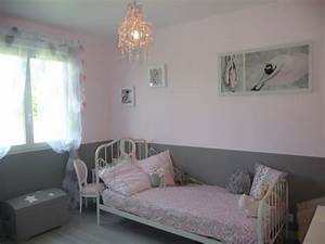 Papier Peint Rose Et Gris : chambre de l na 6 photos dede33 ~ Dailycaller-alerts.com Idées de Décoration