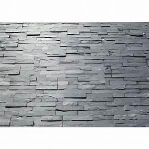 Parement Pierre Exterieur : parement ext rieur pierre naturelle ardoise 38x18 ~ Melissatoandfro.com Idées de Décoration