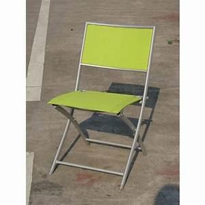 Chaise Pliante De Jardin : chaise pliante prado anis chaises de jardin tables chaises bancs mobilier de jardin ~ Teatrodelosmanantiales.com Idées de Décoration