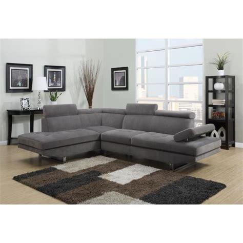 repose tete canapé canapé d 39 angle design gris tissu avec repose têtes achat