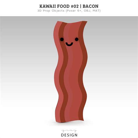 cuisine kawaii free 3d kawaii food bacon model