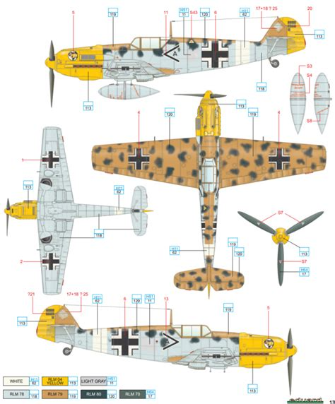 bf 109e 7 trop jg 27 africa color profile and paint
