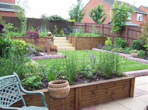 garden beds ideas raised beds around peremeter planters patio small