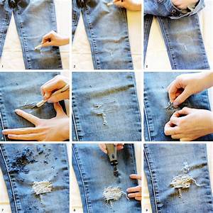 Ripped jeans techniques for you to create your own jeans