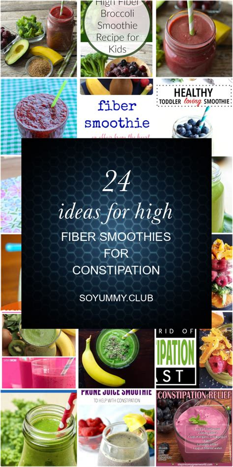 Feb 20, 2020 · ensure kids drink enough water along with high fiber foods; 24 Ideas for High Fiber Smoothies for Constipation - Best ...