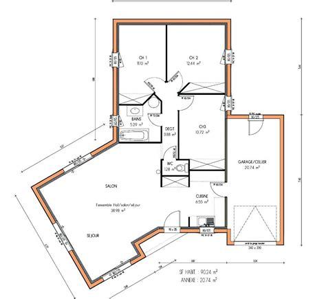plan de maison gratuit 3 chambres architectures plans de maisons plain pied plan de la