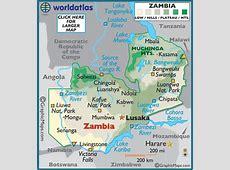Zambia Map Geography of Zambia Map of Zambia